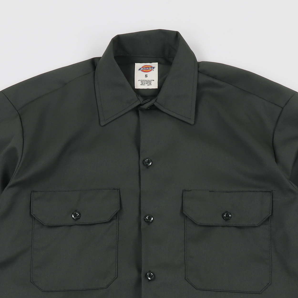 a2746464790 A short sleeve shirt from Dickies modelled similar to their iconic  workpants. The twill is made from 65% polyester and 35% cotton and it has  two buttoned ...