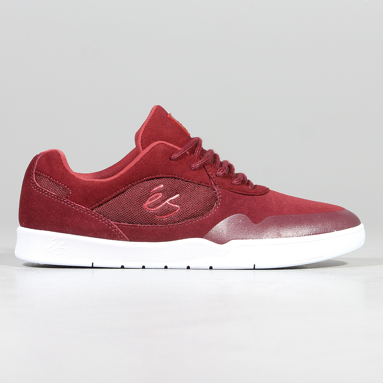 Es Mens Skateboarding Swift Shoes Red Rouge Footwear Round Laces £45 00
