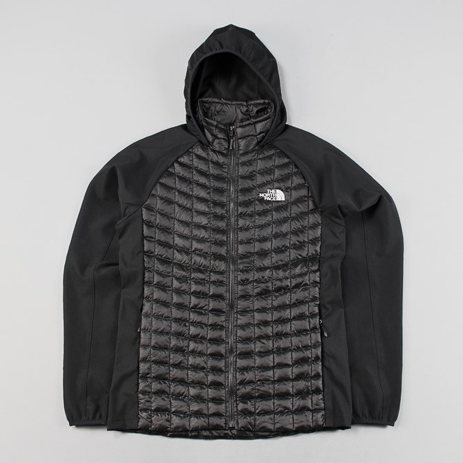 The North Face Mens Thermoball Hybrid Hood Jacket Black