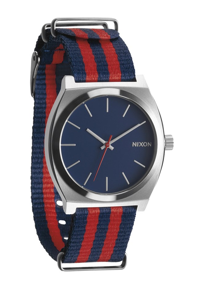 Nixon Time Teller Watch - Navy and Red Nylon
