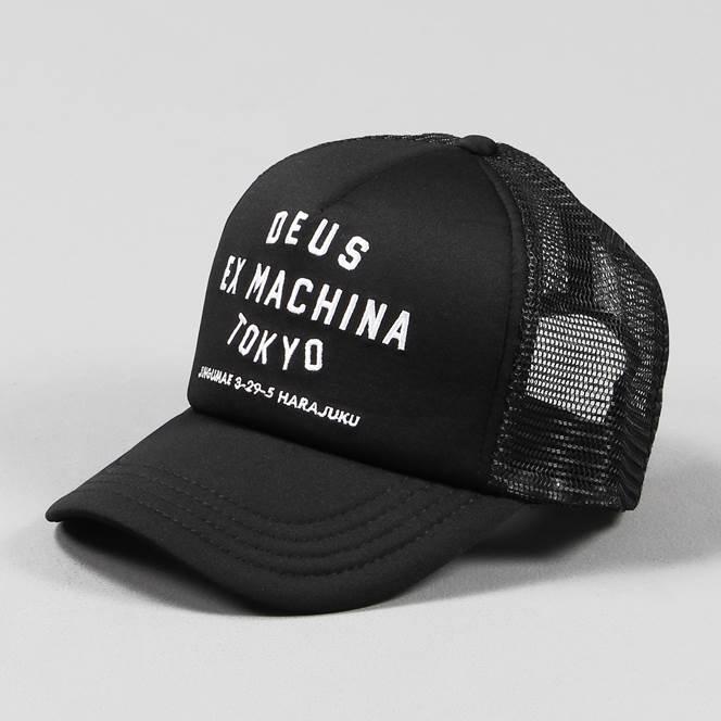 deus ex machina tokyo mens mesh address trucker cap black. Black Bedroom Furniture Sets. Home Design Ideas