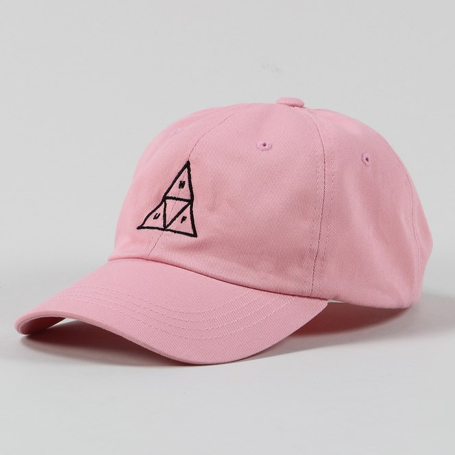 Huf Triple Triangle Curved Dad Cap Pink