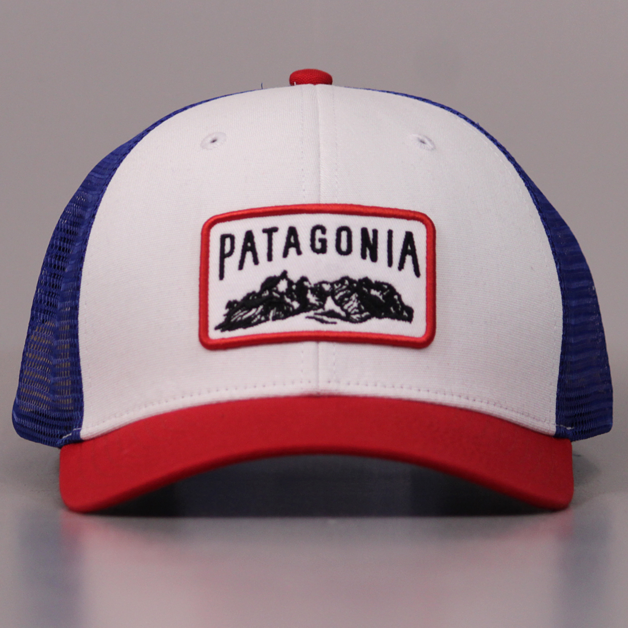 09d052c91e2aa Retro american style trucker cap with an embroidered Patagonia logo at the  front