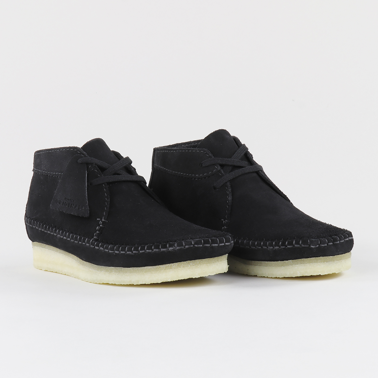 54c1cfbd751e5 The Clarks Originals Weaver gets a slight extension to give us the Weaver  Boot. High quality suede is used for the upper