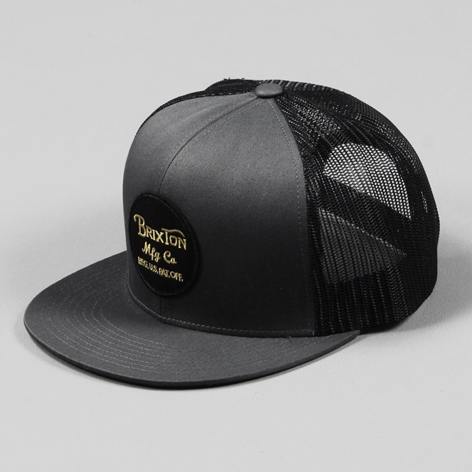Brixton Wheeler Trucker Cap Charcoal Black