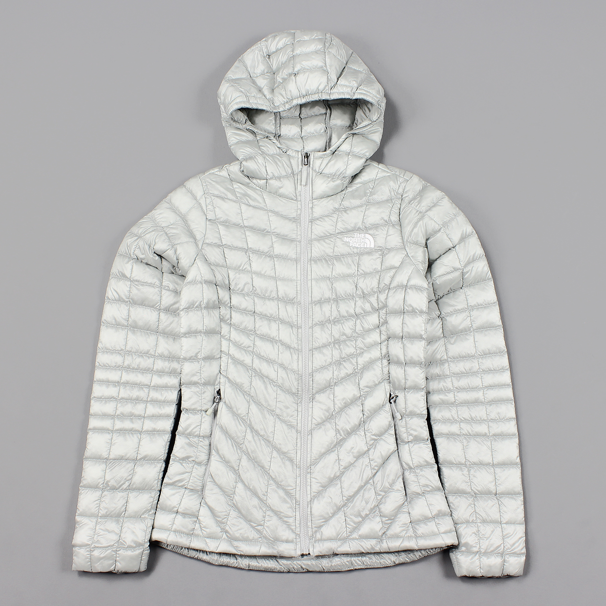 91883d41dcce The North Face Womens Thermoball Hoodie Jacket High Rise Grey £112.00