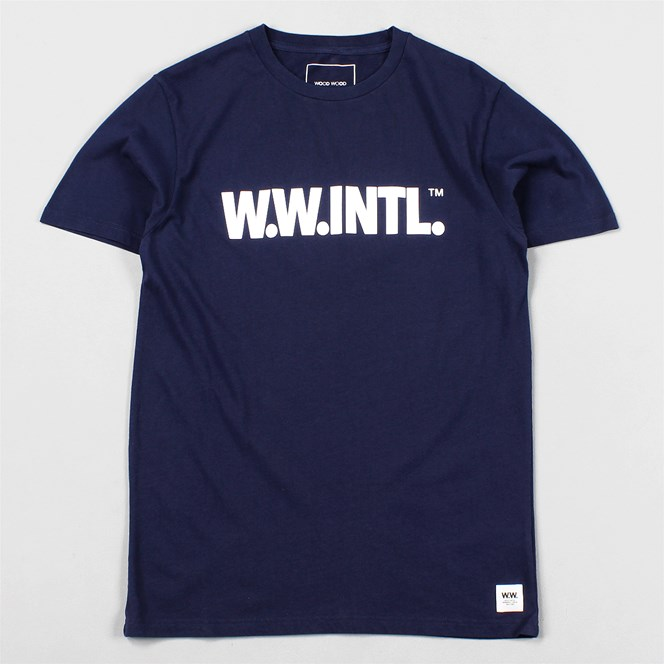 Wood Wood W.W.INTL T Shirt Peacoat