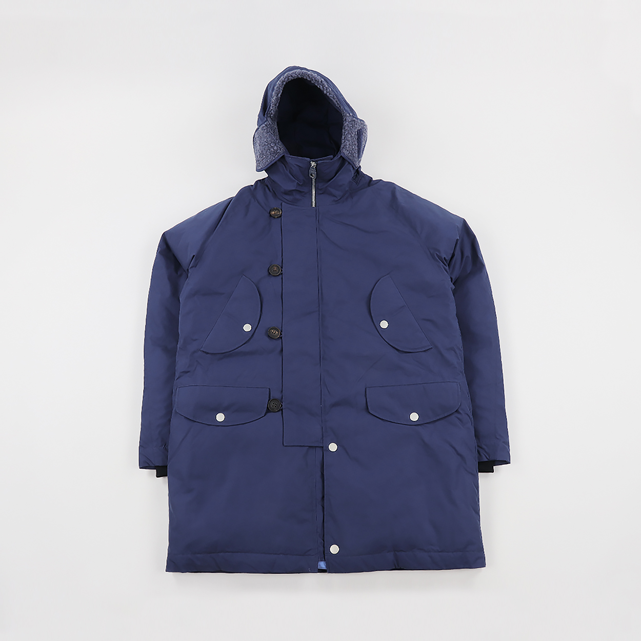 bb2d51106411 Peak Performance x Nigel Cabourn Mens Down Parka Steel Blue £1