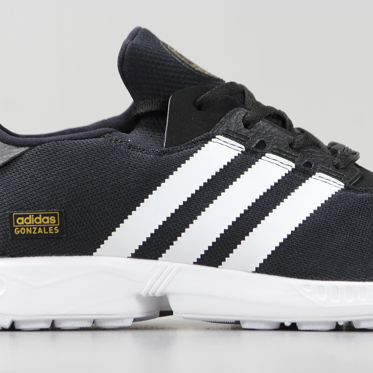 sneakers for cheap 514f0 b9611 Adidas Skateboarding Mens ZX Gonz Pro Shoes Black White ...